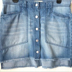 Cloth & Stone Button Down Denim Chambray Skirt 29